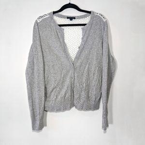 Hilfiger cardigan with lace back Size Medium